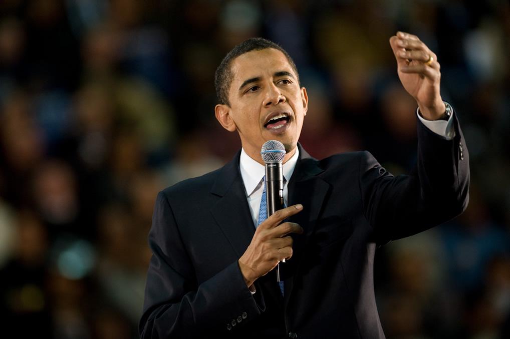 Barak Obama demonstrates good use of voice